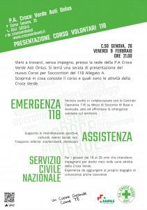 Locandina corso Croce Verde Asti