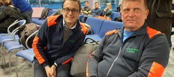 A sx Michele Isoardi presidente Croce Verde Saluzzo