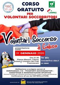 Corso Volontari del Soccorso Sud Canavese di Caluso - Locandina