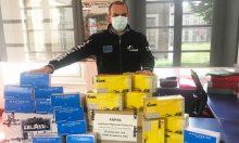 Donazione mascherine e guanti Lavazza